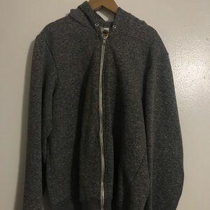American Apparel Grey Hoodie Small *missing String